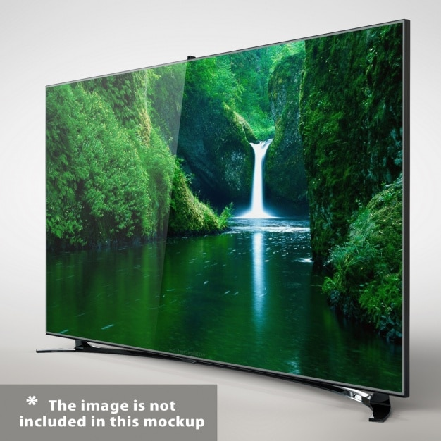 Curved Television Mockup