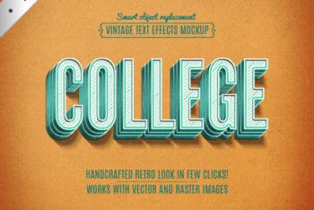 Free Retro College Mockup in PSD