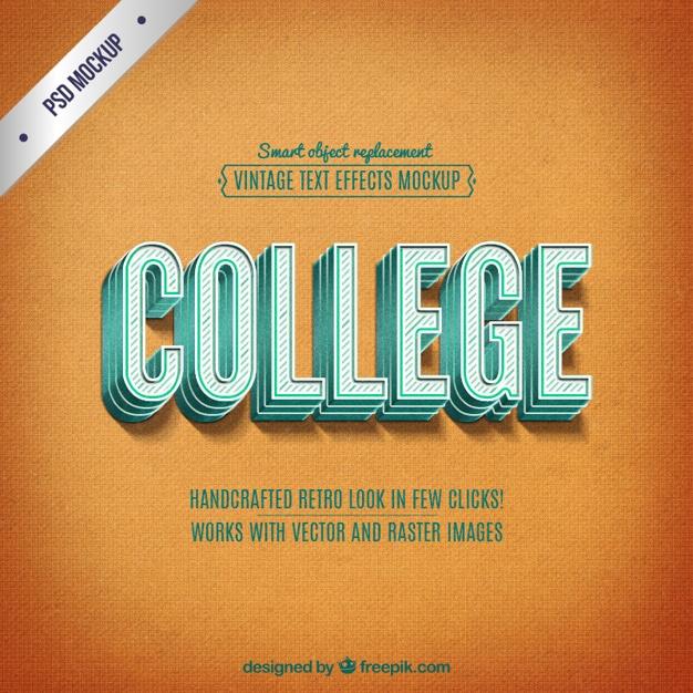 Retro College Mockup