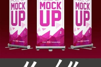 Grand Designed & Free Roll-up Banner PSD Mockup