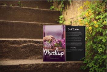Romantic Book Cover PSD Mockup for Spectacular Presentation