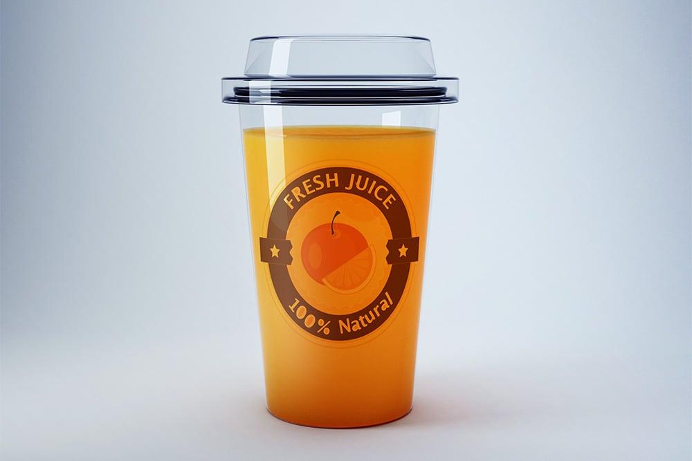 takeaway ornage juice mockup