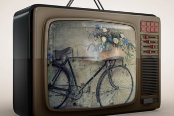Free Really Old Television Mockup in PSD