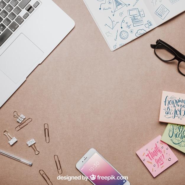 Cute Workspace Mockup
