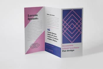 Trifold Brochure Mockup in PSD