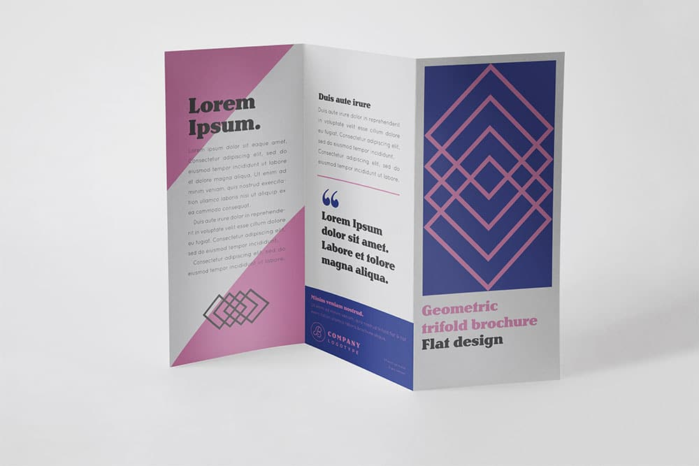 Free download trifold brochure mockup in psd designhooks for Brochure design mockup
