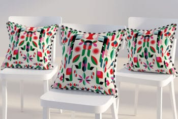 Spectacular Triple Pillow Mockup