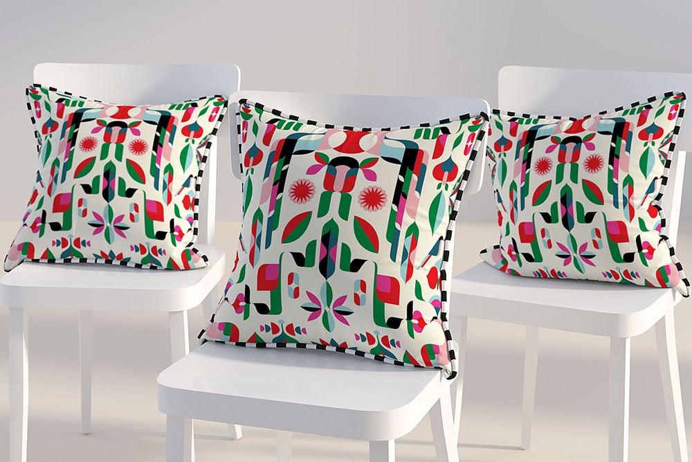 Free Download Triple Pillow Mockup Designhooks