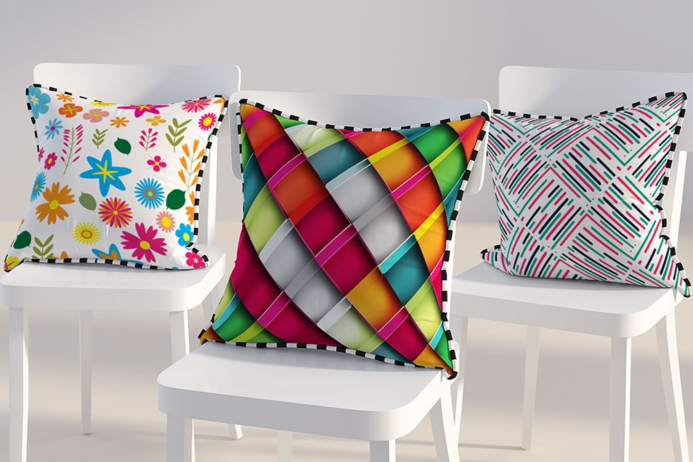 triple pillow mockup
