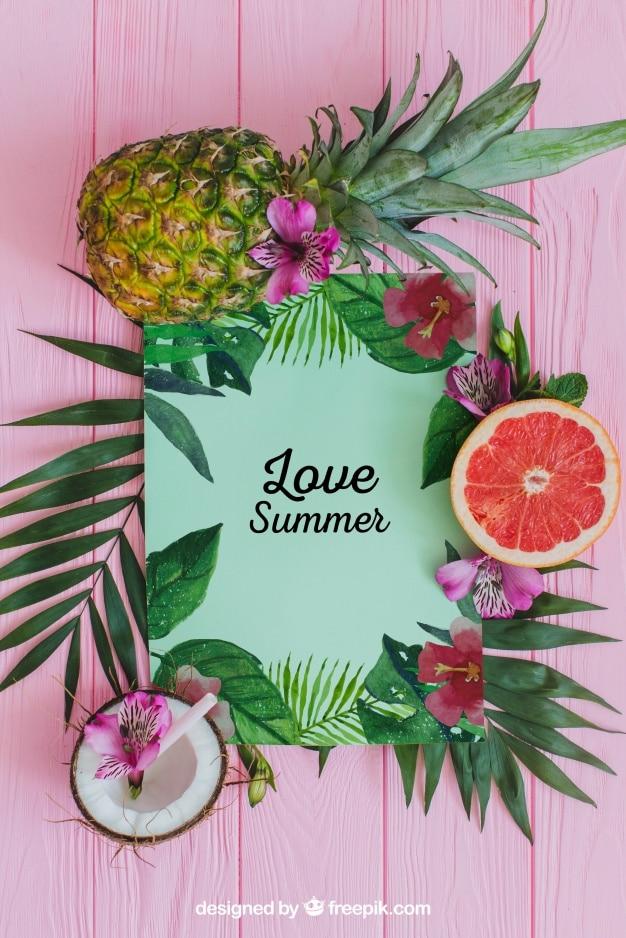 Tropical Summer Mockup