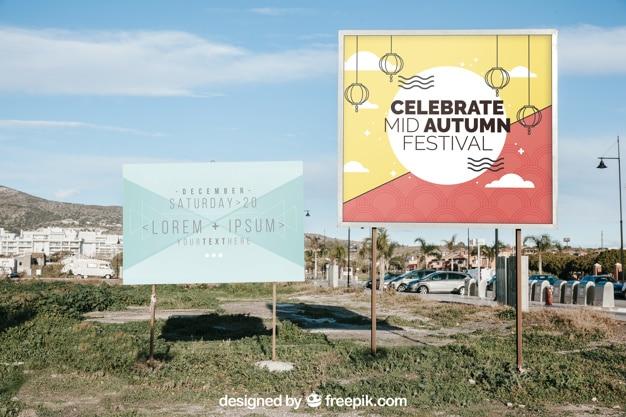 Two Billboards Mockup
