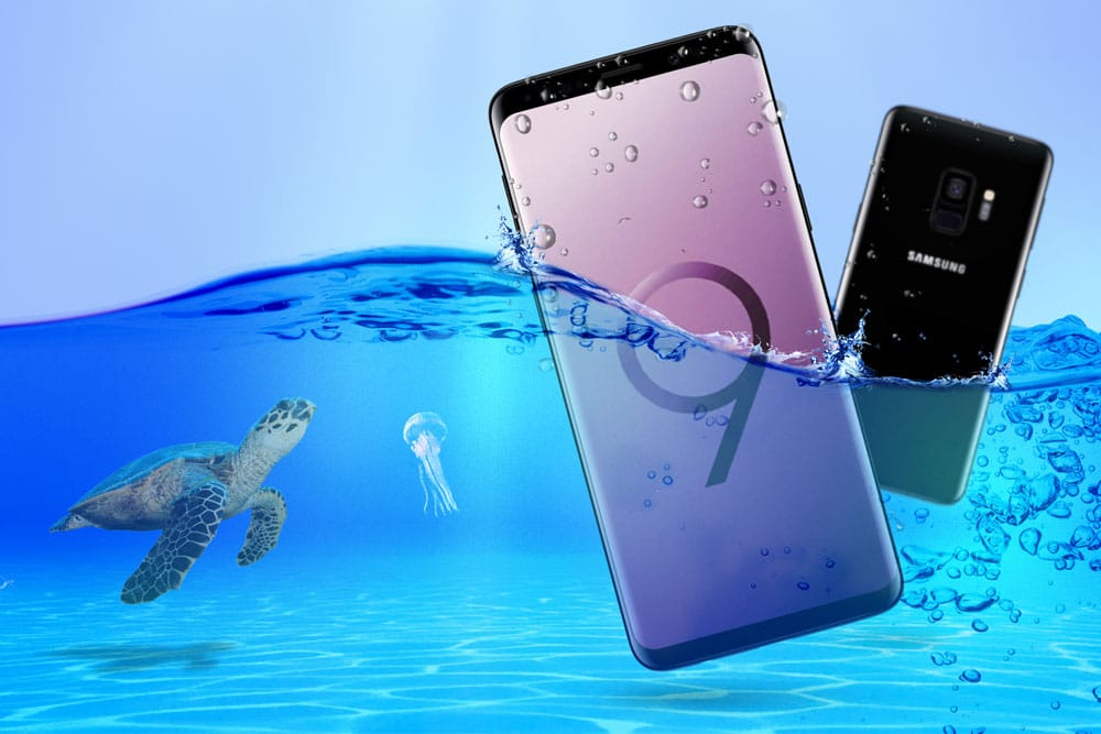 SAMSUNG GALAXY S9 WATER RESISTANT