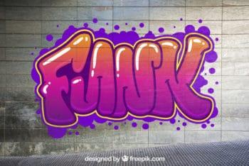 Free Urban Graffiti Mockup in PSD