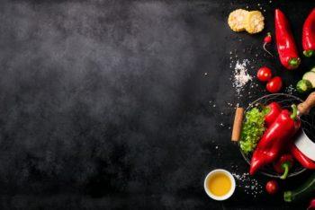 Free Vegetable Ingredients Mockup