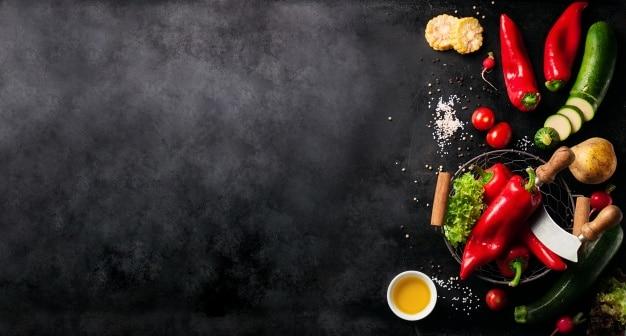 Vegetable Ingredients Mockup