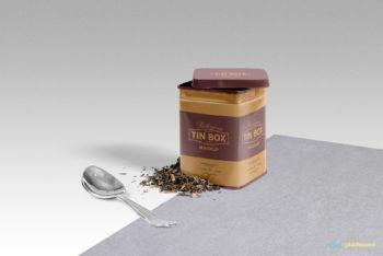 Free Classy Tin Box Mockup in PSD