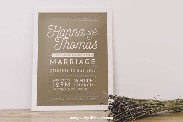 Wedding Frame Mockup