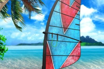 Awesome Windsurf Board Mockup Freebie in PSD