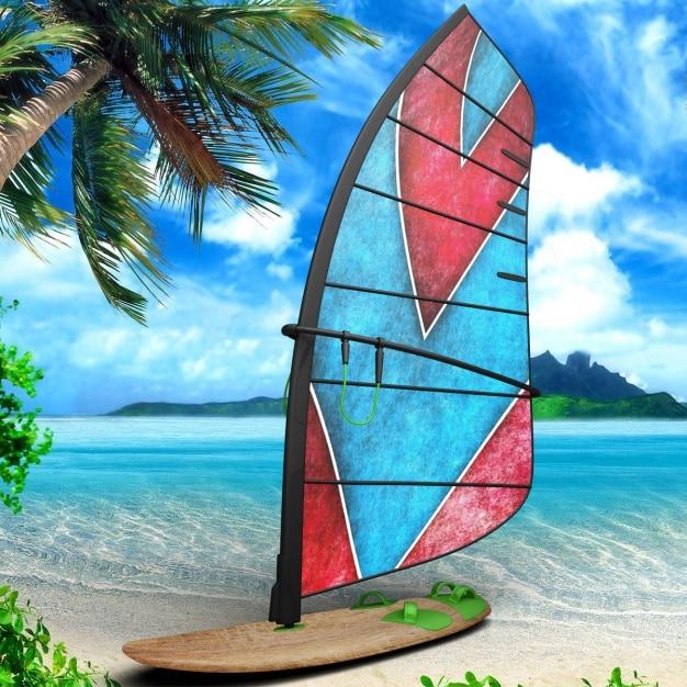 Windsurf Board Mockup
