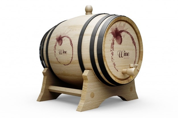 Realistic Wine Barrel