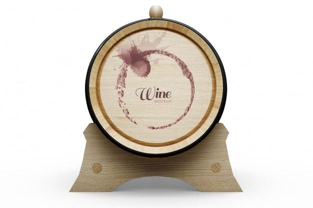 Side View Wine Barrel