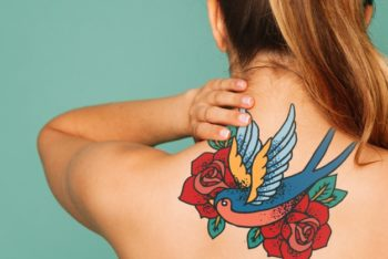 Awesome Back Tattoo Mockup Freebie