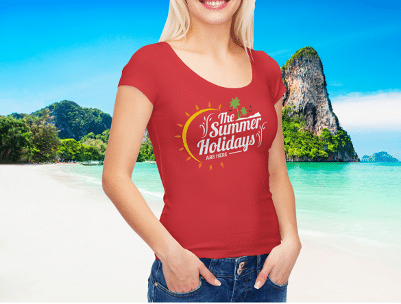 Women T-shirt PSD Mockup Download for Free