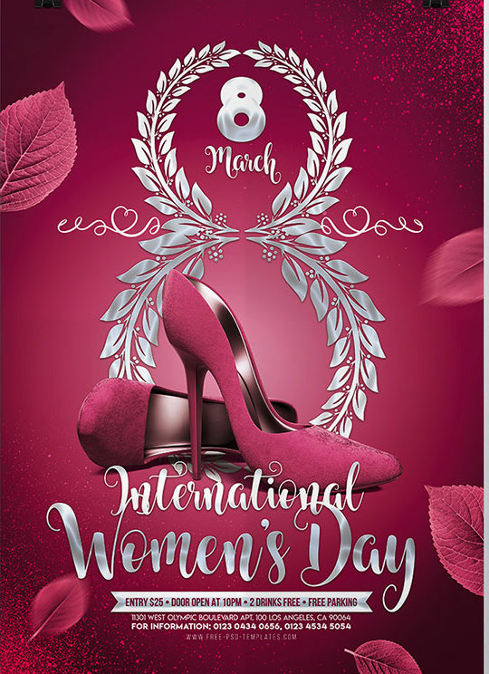 Internationa Women's day Poster PSD Mockup Design