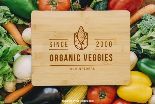 Organic Vegetables Mockup