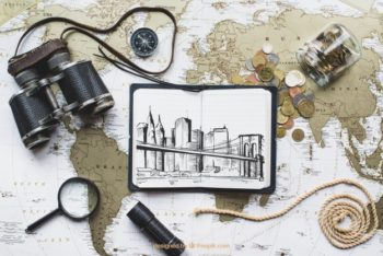 Free World Travel Concept Mockup