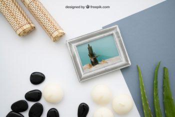 Free Calming Zen Concept Mockup in PSD