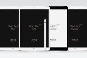 iPad Pro Plus Apple Pencil Mockup Freebie
