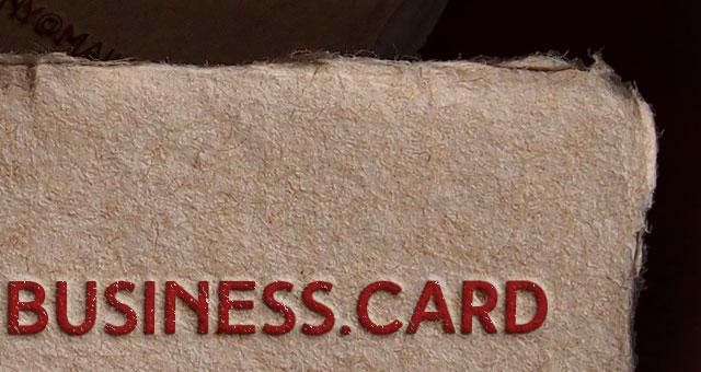 Rough Business Card