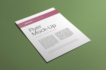 A4 Sized Flyer PSD Mockup – Sober Design & Customizable Features