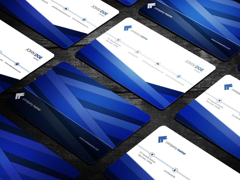 Business Card PSD Mockup Template Design