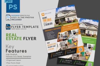 Real Estate Flyer PSD Mockup For Free