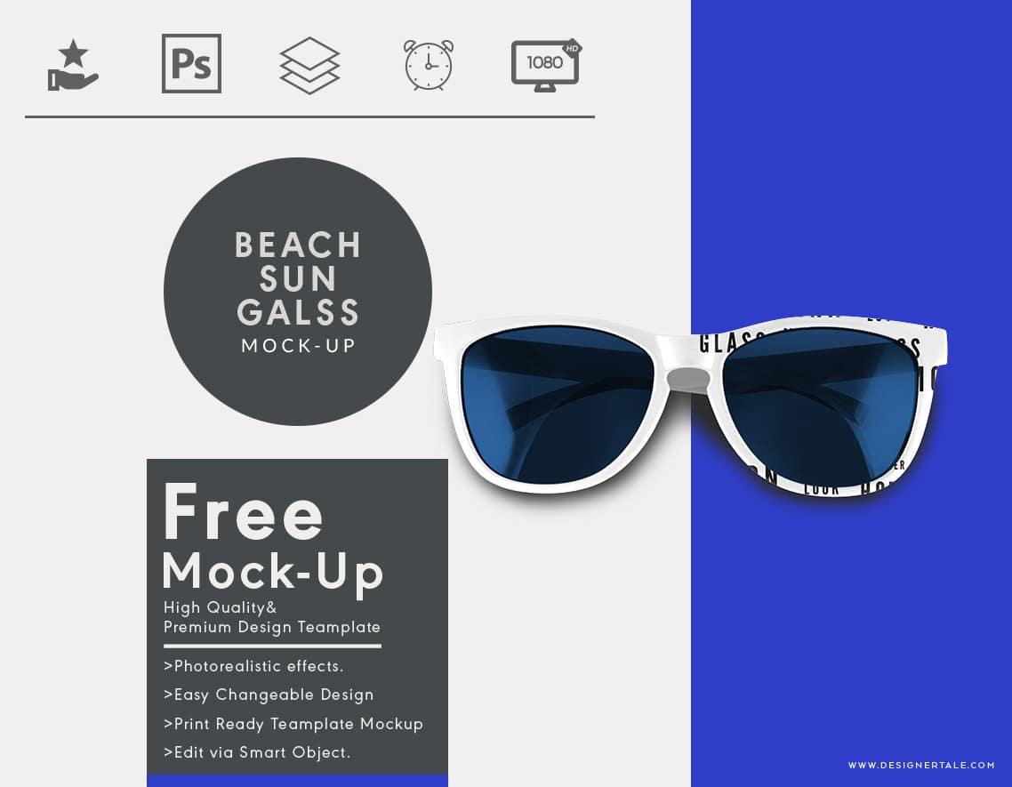 Beach Sunglasses Mockup