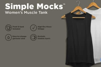 Women Racerback Tank Top PSD Mockup For Designing Perfect Summer Apparel