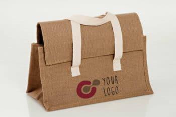 Free Raw Cloth Bag Mockup in PSD