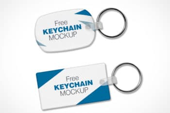 Free Customizable Keychain Designs Mockup