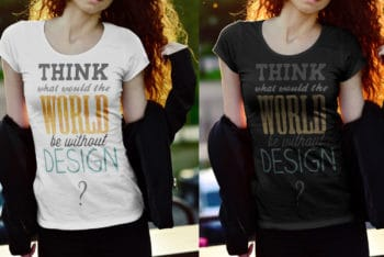 Female T-shirt PSD Mockup ( That Defines Ultimate Fashion Statement)