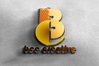 Free Download 3D Logo PSD Mockup