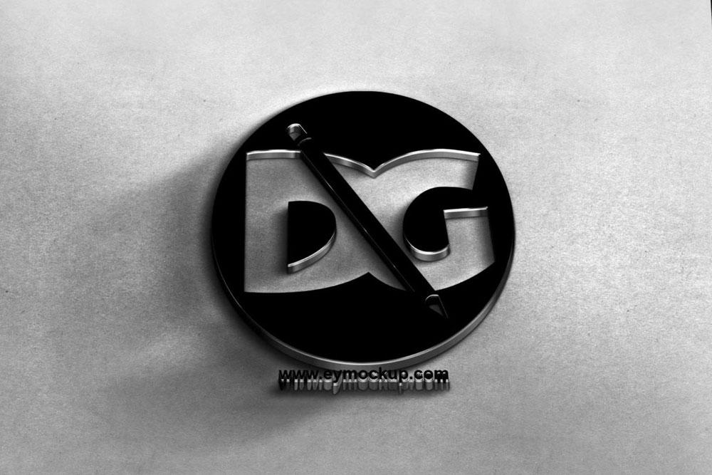 3d logo psd mockup