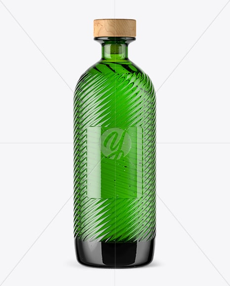 Green Bottle Plus Wooden Caps