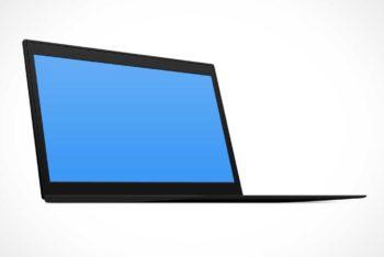 Free Lenovo ThinkPad Laptop Mockup in PSD