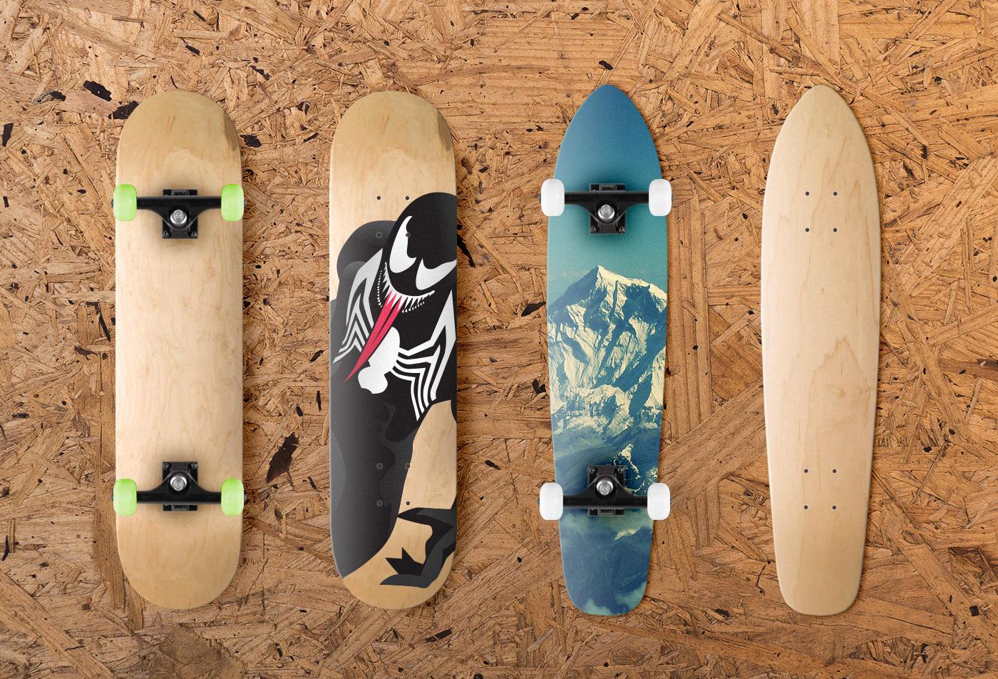 Multiple Skateboard Designs