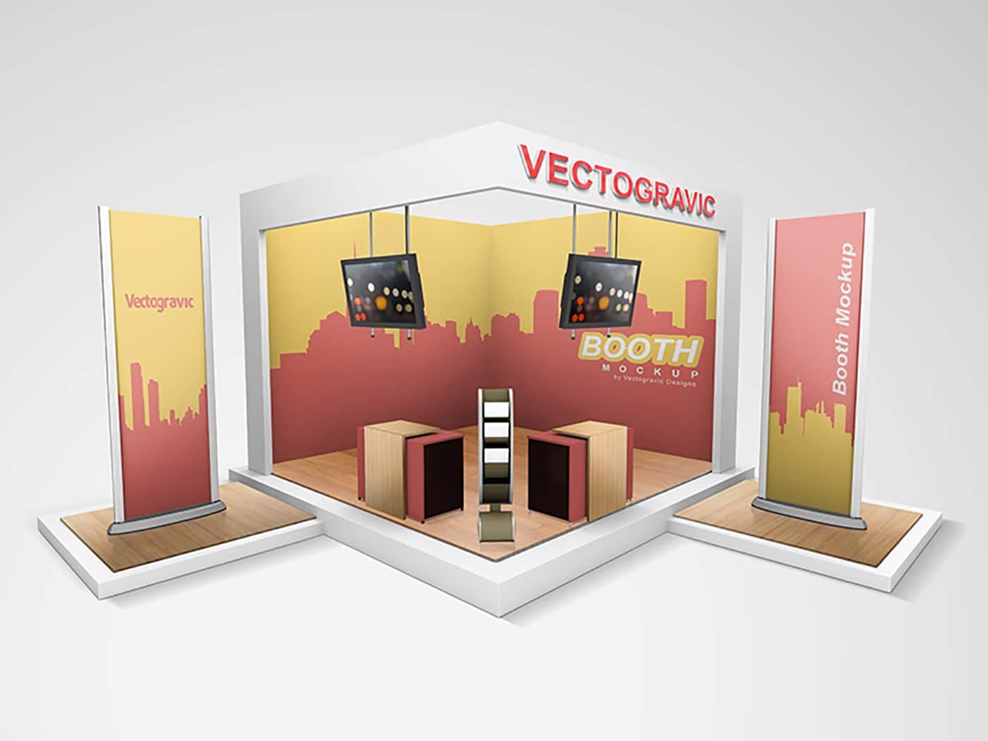 Exhibition Stand Freebies : Free technical display booth mockup designhooks