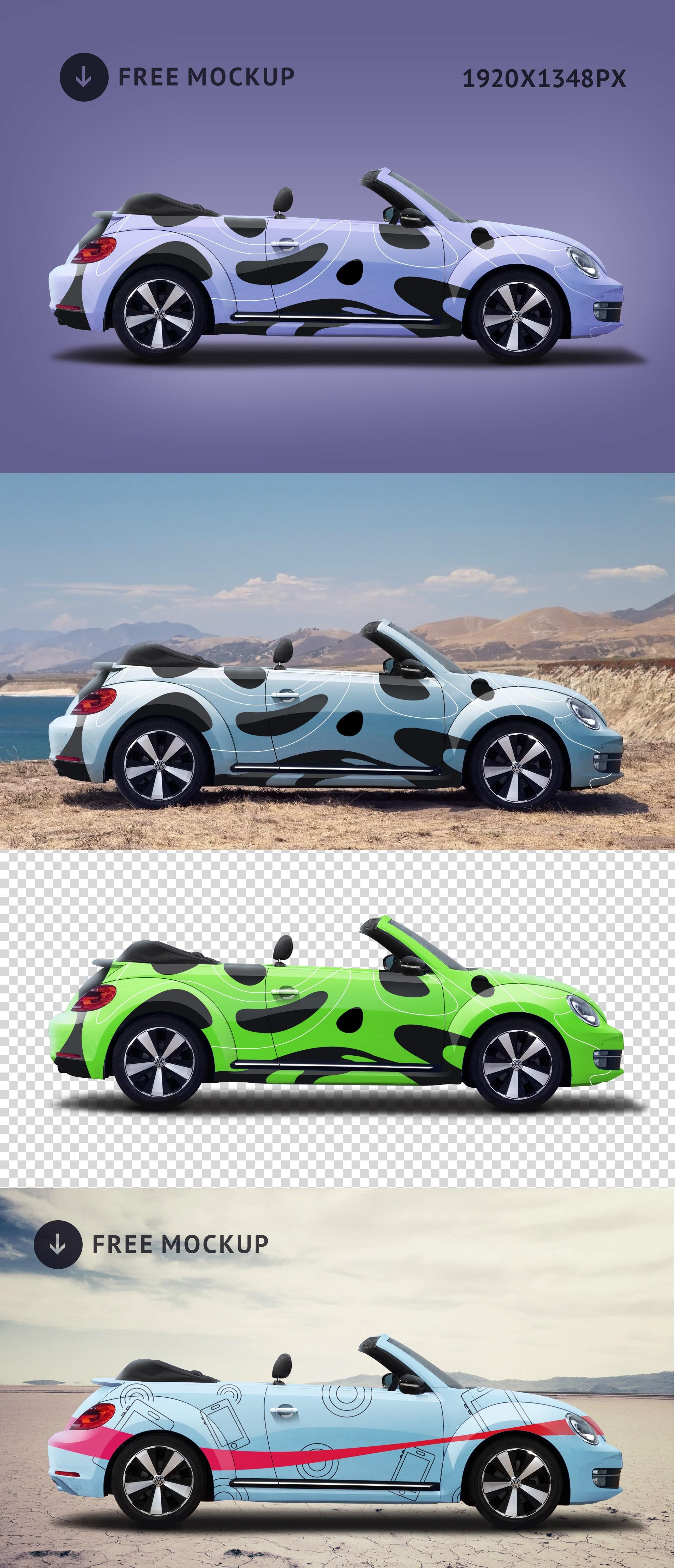 Modern Volkswagen Beetle Car