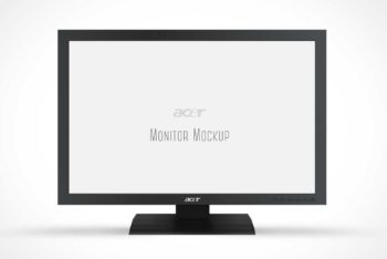 Free Acer Monitor Unit Mockup in PSD