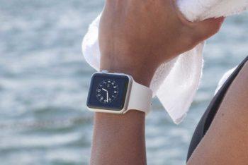 Free Apple Watch Fitness Scene Mockup